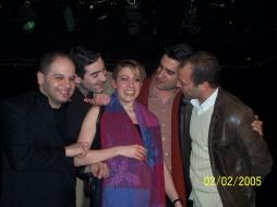 February, 2nd/2006 - After recital with Marina Chiche, Ali Pınar, Memet Ali Alabora, Emrah Gamsızoğlu